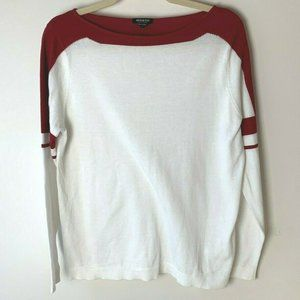 Worth New York Top Size Small White Red Cotton